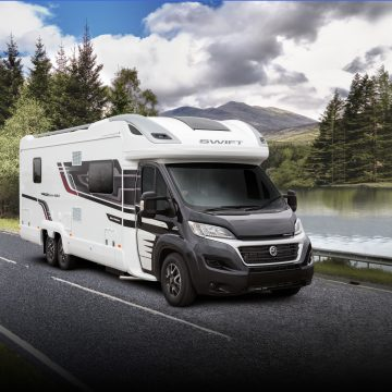 The transportation of caravans or motorhomes for commercial purposes